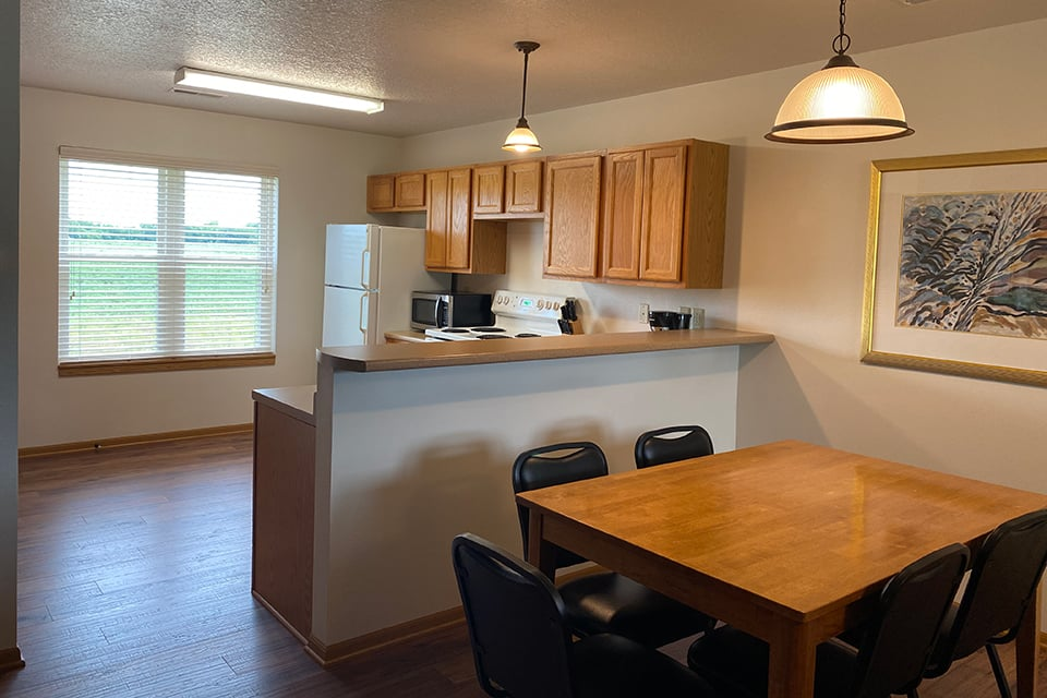 Handicap Accessible Villa Kitchen and Dining Area