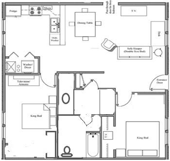 Handicap Room Layout - Nauvoo, IL Villa